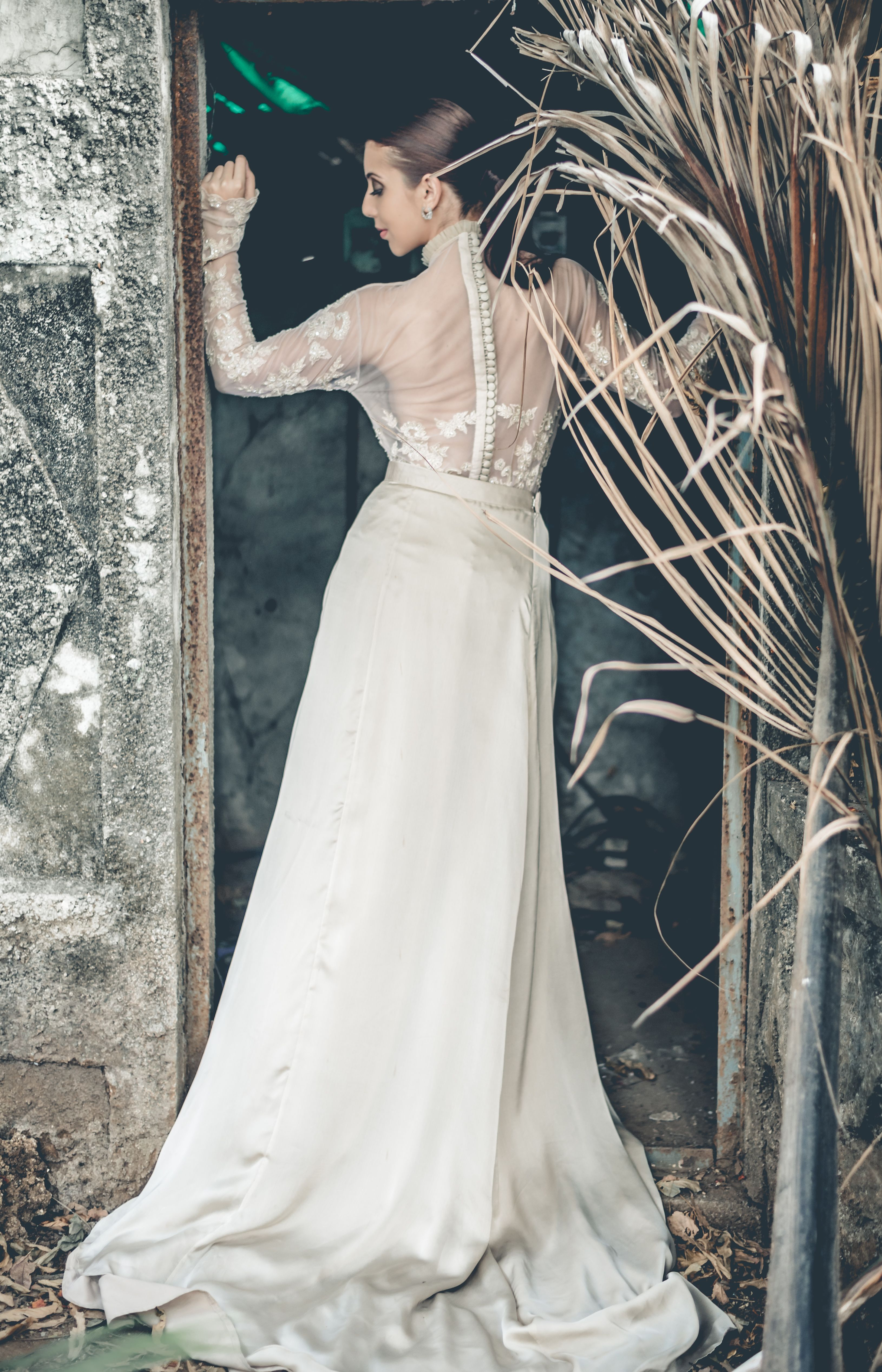 Wedding dress bodysuit  This stunning set features a net bodysuit The lace on the