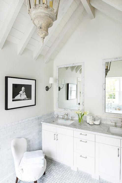 Traditional Home Bathrooms Black And White Photography Framed