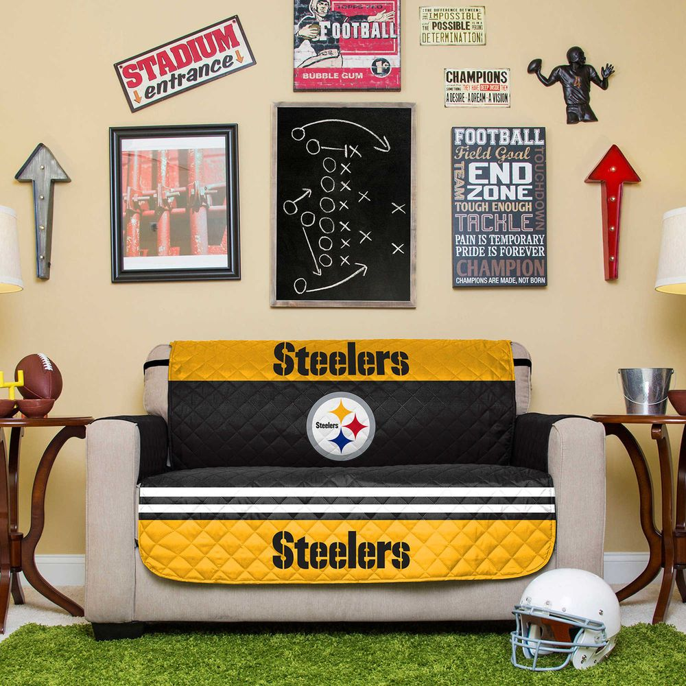 Superb NFL Reversible Furniture Protector   PITTSBURGH STEELERS   Love Seat #NFL