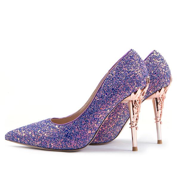 Purple High Heels Google Search Girls Wedding Shoes Purple High Heels Wedding Shoes Flats