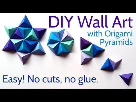 Photo of DIY Papier Wandkunst mit Origami Pyramide Pixel – Einfaches Tutorial und Dekorationsideen