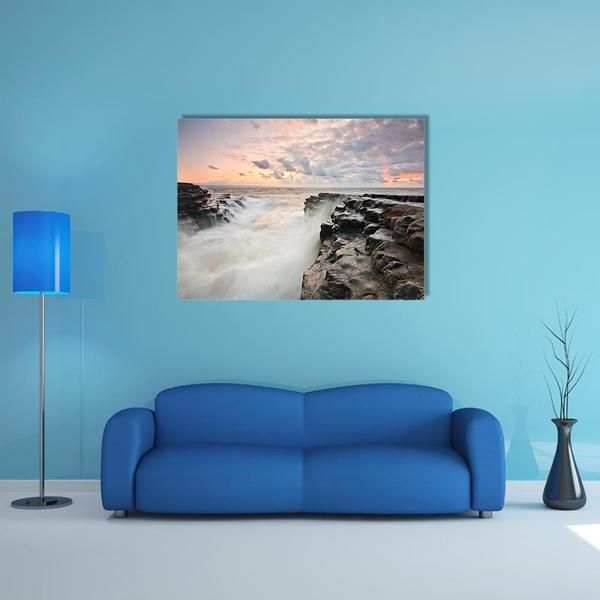 High Tide On Monknash Beach Multi Panel Canvas Wall Art Canvas
