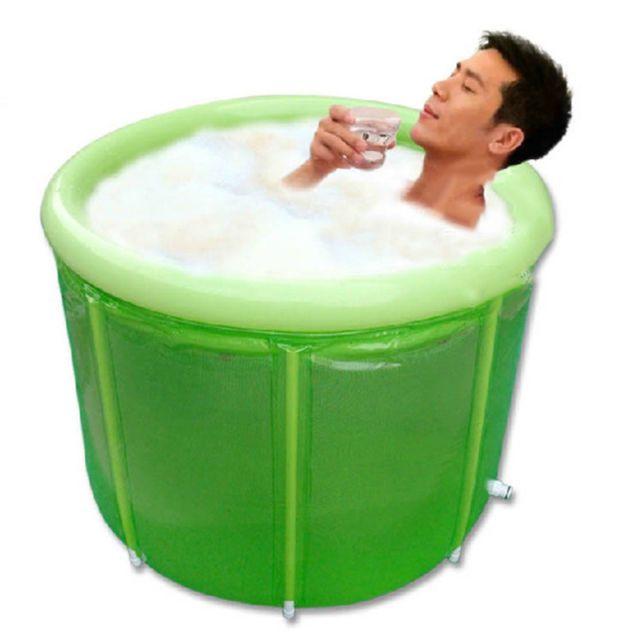 Adult Folding Bathtub Thicken Durable SPA Sauna Barrel Portable ...