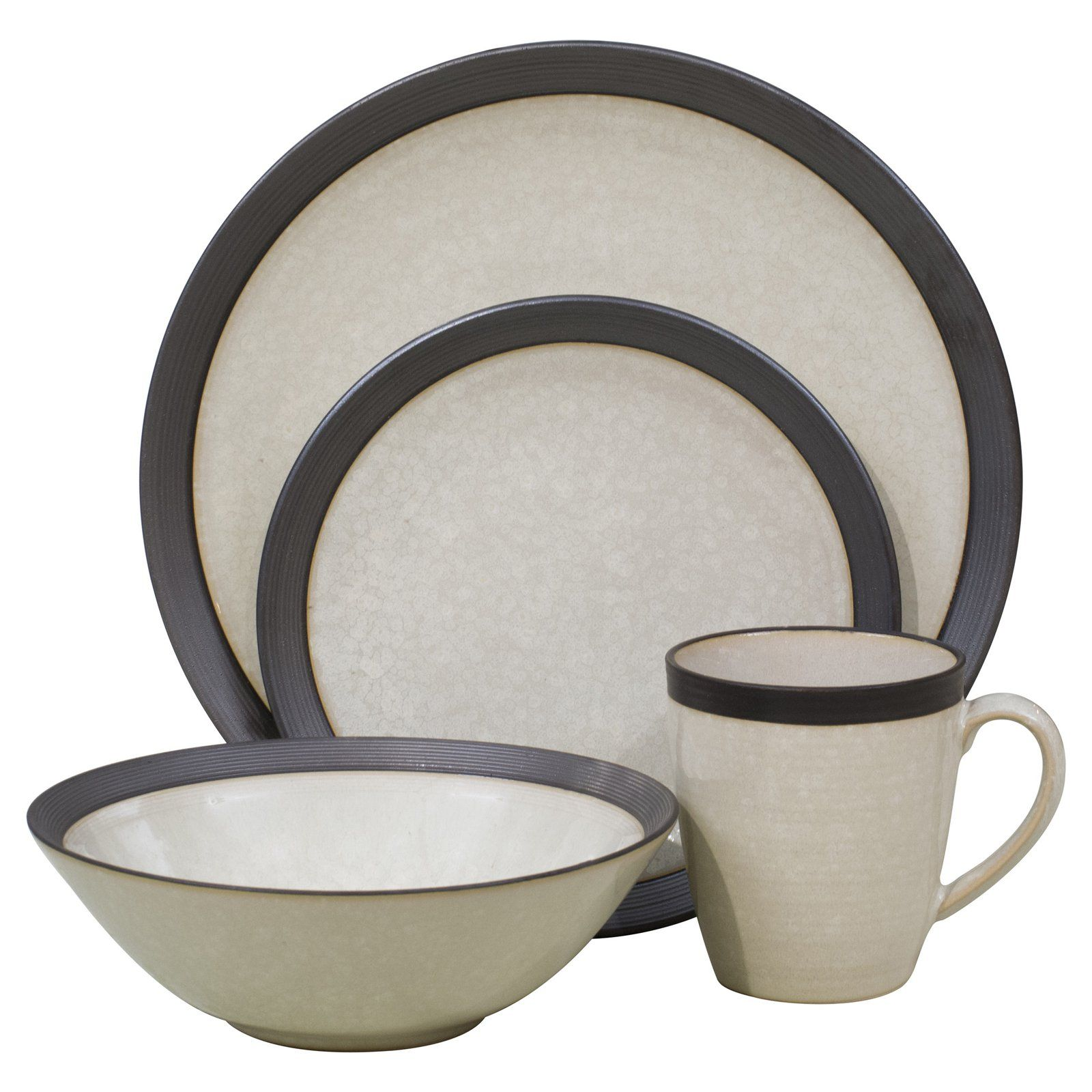 Sango Omega 16 Piece Dinnerware Set - Pearl - Gracefully organic and contemporary the stoneware  sc 1 st  Pinterest & Sango Omega 16 Piece Dinnerware Set - Pearl - Gracefully organic and ...