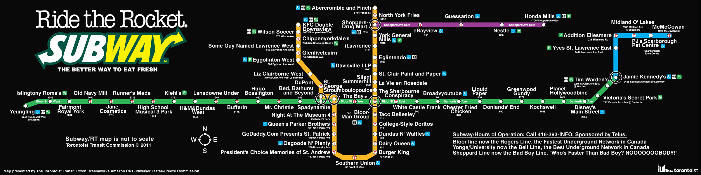 Subway Route Map Toronto