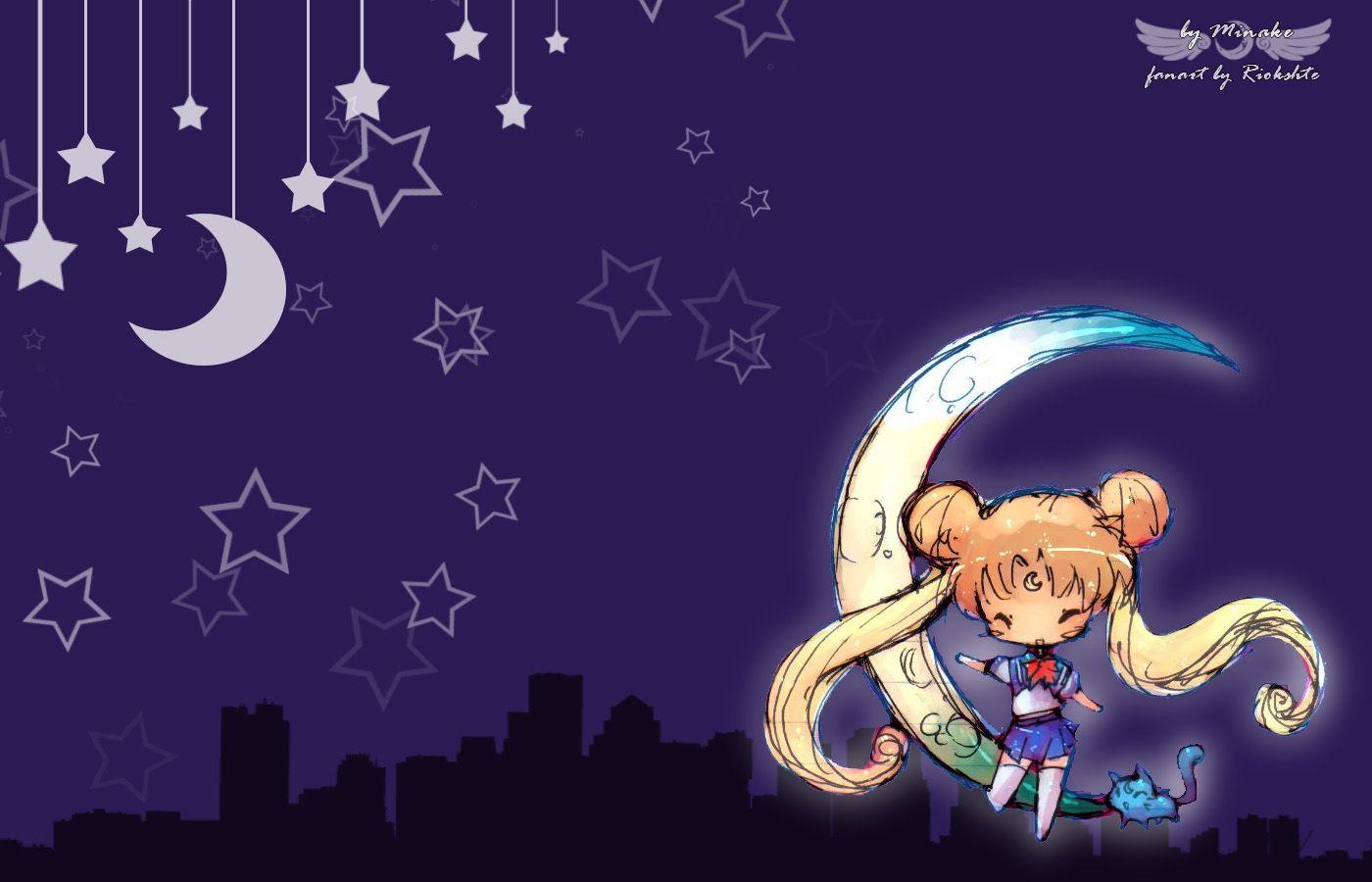 Sailor Moon Chibi Desktop Hd Wallpaper Walldevice Com Sailor Moon Wallpaper Sailor Moon Aesthetic Chibi Wallpaper