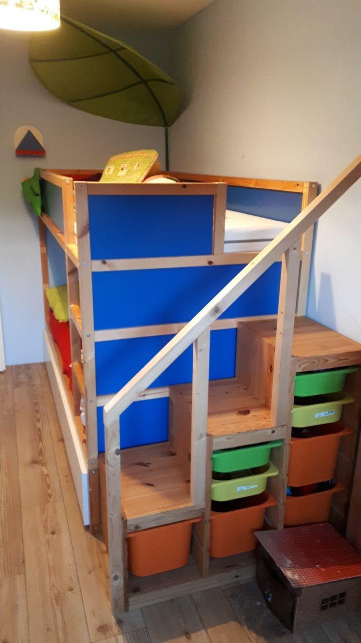 IKEA Kura Hack mit trofast Treppe und Malm Schublade (mit