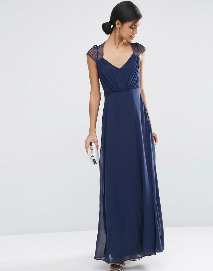 This neckline is very pretty.   ASOS | ASOS Kate Lace Maxi Dress at ASOS