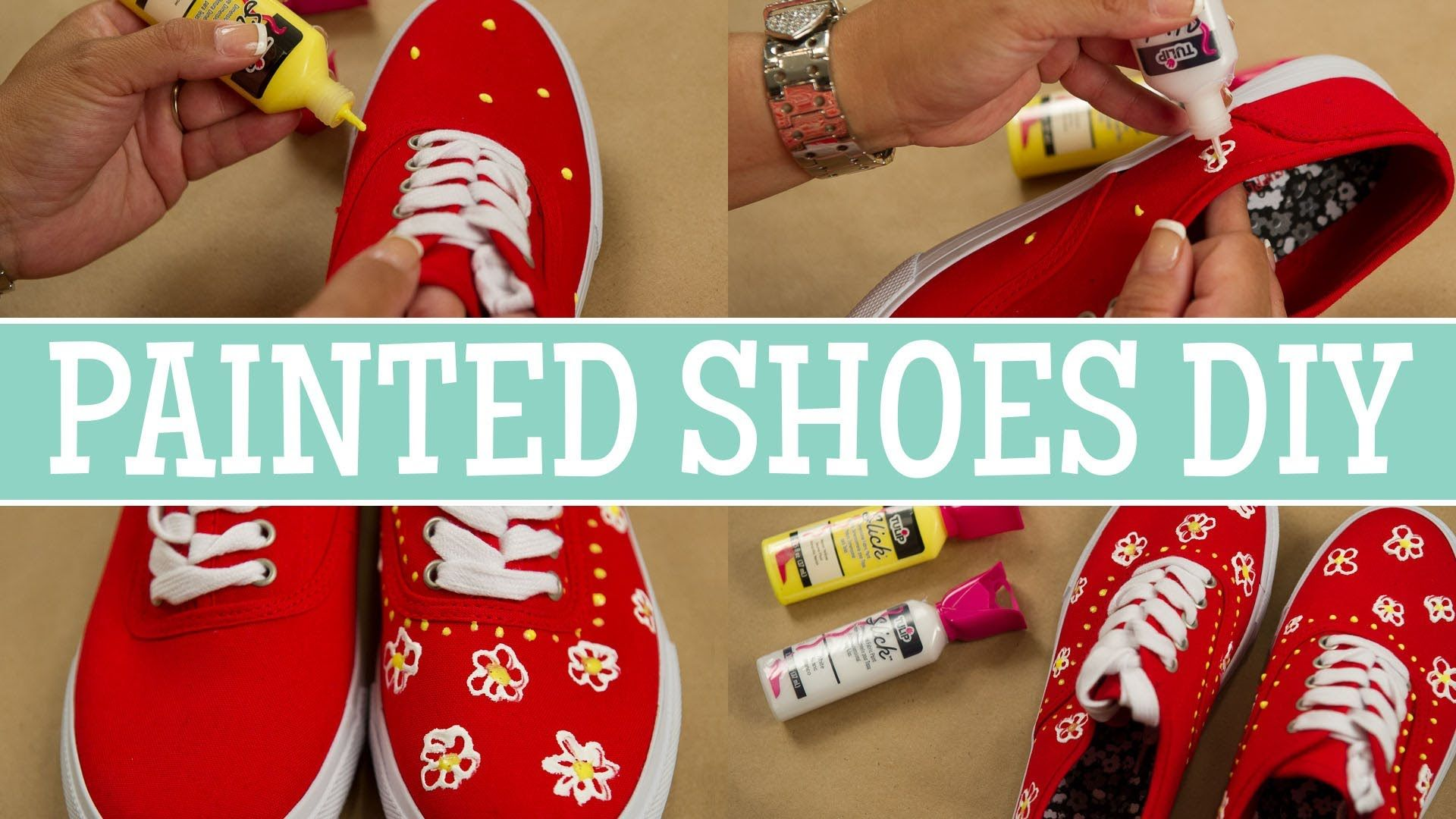 DIY - How to Add Style to Shoes Using Fabric Paint