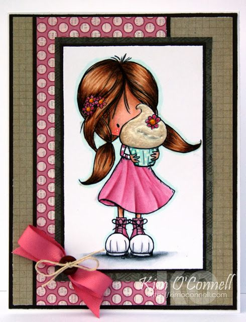 """Paper Perfect Designs by Kim O'Connell: Tiddly Inks """"Eat Cake"""" digital image"""