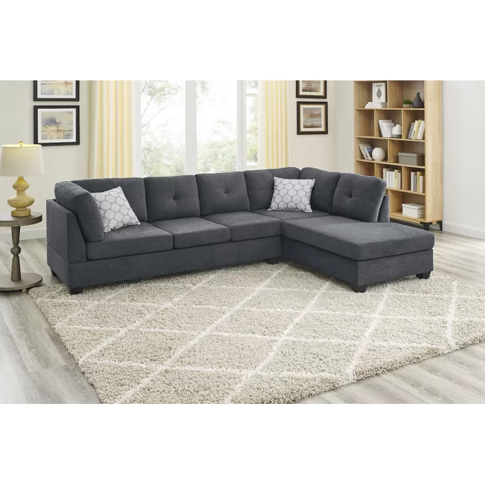 Artola Cordero 107 5 Chenille Right Hand Facing Corner Sectional In 2020 Living Room Furniture Sale Sectional Sofa Couch Sectional