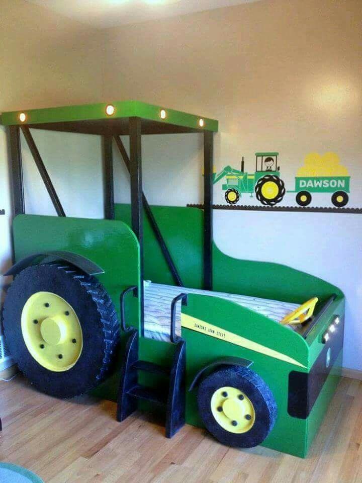 lit tracteur peinture de salon salons tracteurs de john deere lits d enfants chambre enfant chambres garon linge de lit futur - Tracteur John Deere Enfant