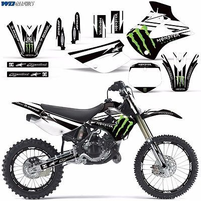 Graphic Kit Kawasaki Kx 85 100 Dirt Bike Mx Motocross Kx 2013 Mnstr