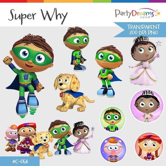 Super Why Instant Download Png Transparent By Partydreamsshop Super Why Handmade Gifts Mario Characters
