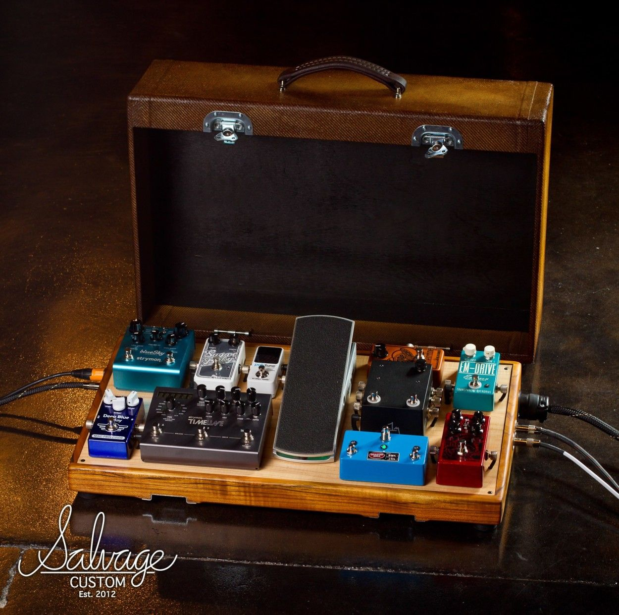 salvage custom pedalboards on stage and ready for play for michael gungor guitars amps fx. Black Bedroom Furniture Sets. Home Design Ideas