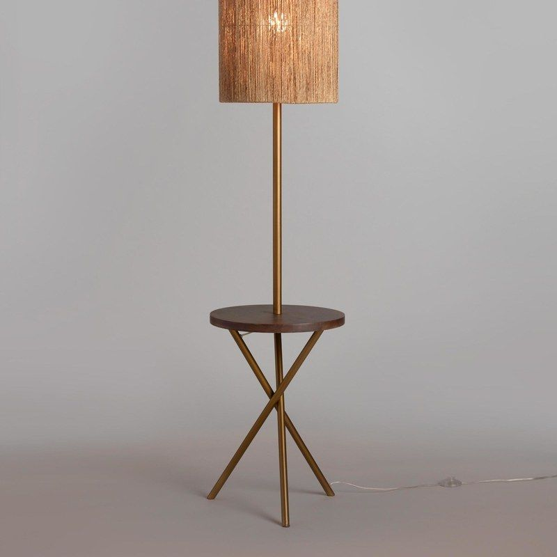 10 Floor Lamps With Tables Attached That Don T Look Like Your Grandma S Floor Table Lamps Stylish Floor Lamp Beautiful Floor Lamps