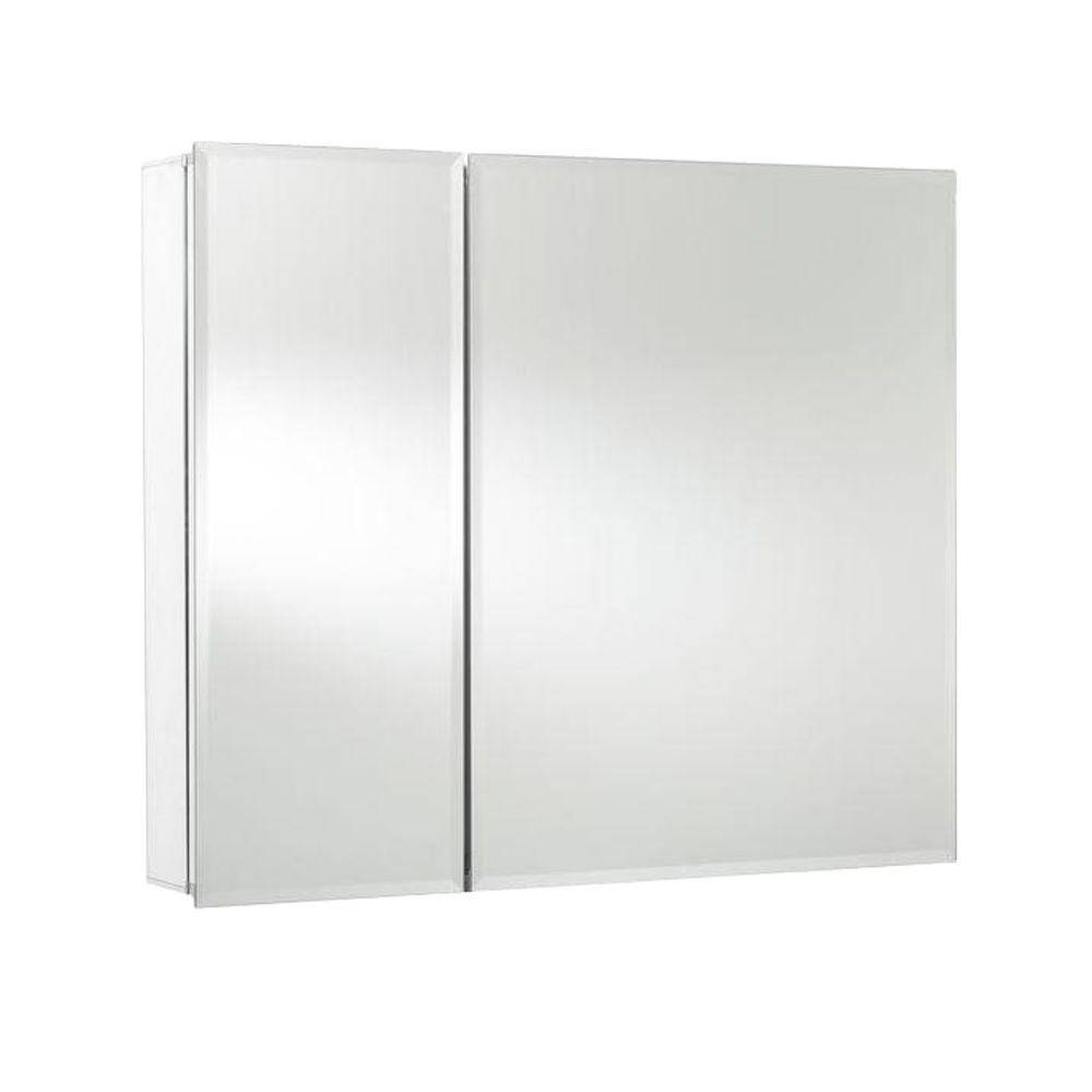 Croydex 30 in. W x 26 in. H x 5-1/4 in. D Frameless Aluminum ...
