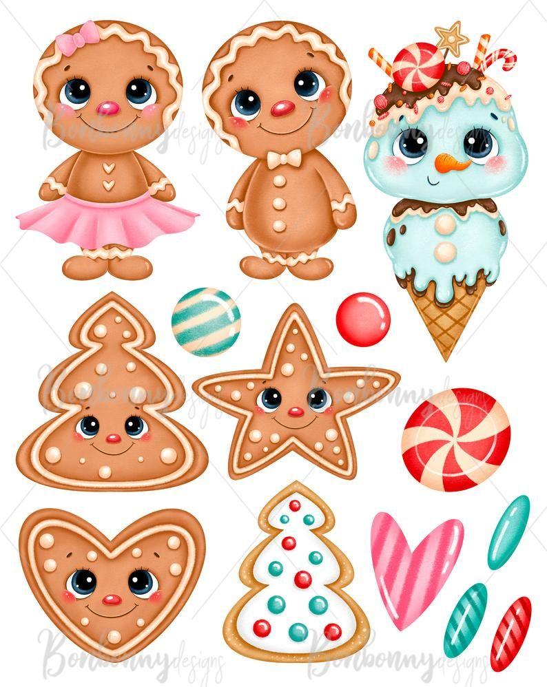 Sweet Christmas Clipart Cute Gingerbread Man Clipart Winter Clipart Gingerbread Cookies Christmas Candy Clipart Christmas Cookies In 2021 Christmas Clipart Sweet Christmas Christmas Crafts