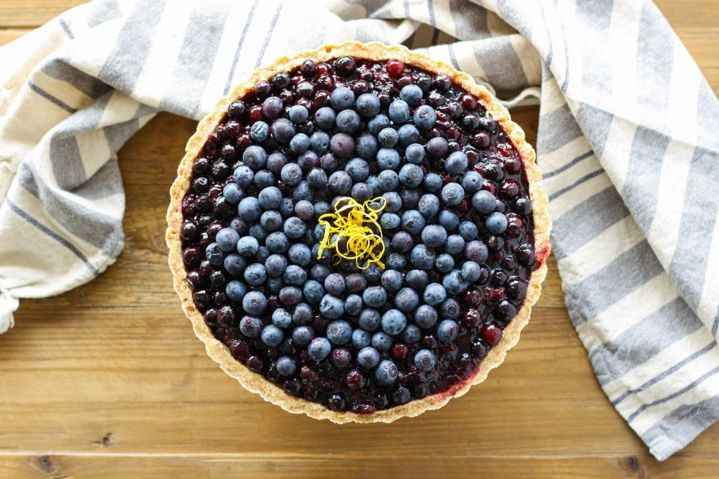 This blueberry tart is full of delicious, plump