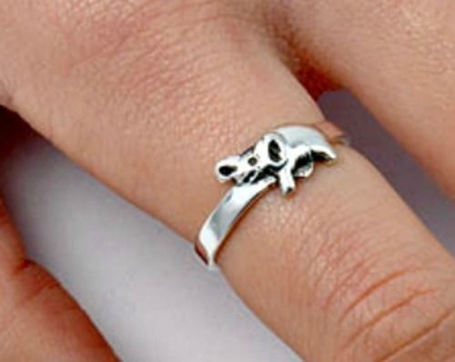 .925 Sterling Silver Ring size 9 Elephant Ladies Midi Knuckle Thumb New p75 #Unbranded #Claddagh