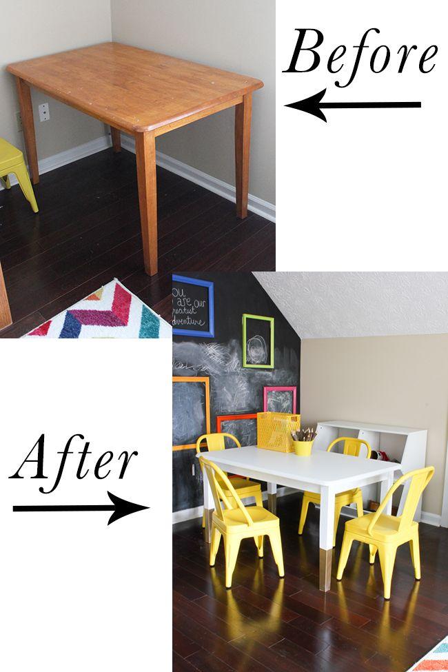 DIY Kids Art Table