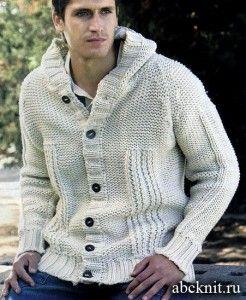 Вязаная куртка и шапка (Вязание для мужчин) Вязание 141