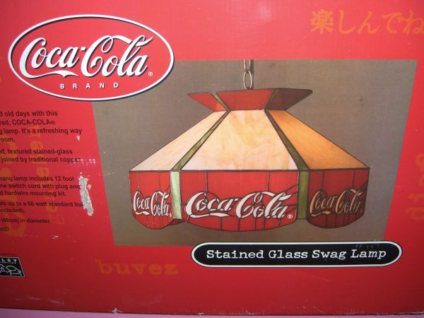 Coca Cola 19 Quot Stained Glass Swag Lamp Lighting Pinterest