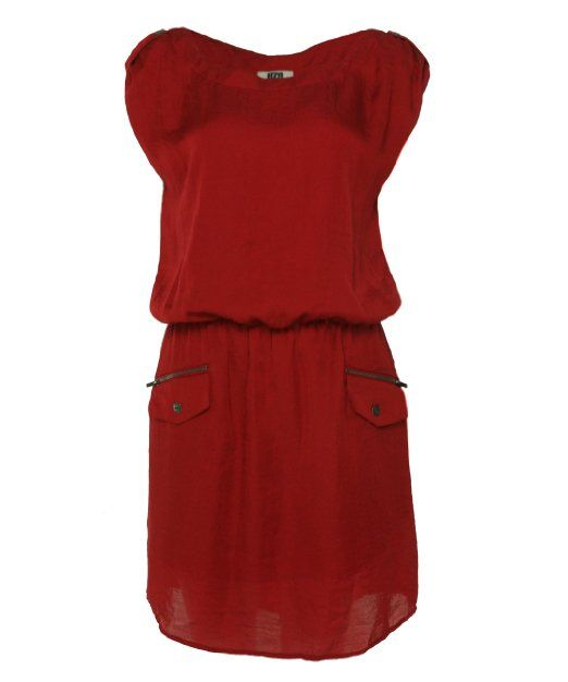 Amazon.com: Laundry by Design Women's Sleeveless Dress Rose Red M: Clothing