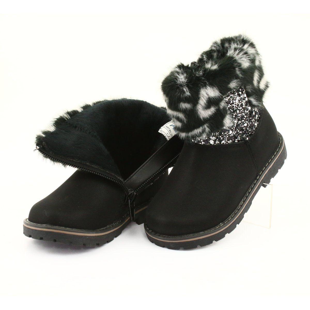 American Club Kozaczki Dziewczece American Gc45 Czarne Girls Black Boots Boots Black Boots