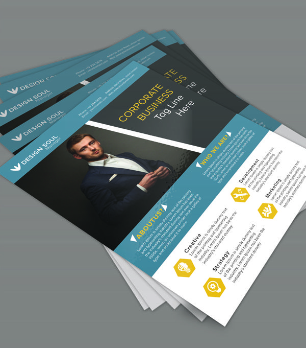 Free Psd Flyer Template Freebie Psdtemplate Businessflyer