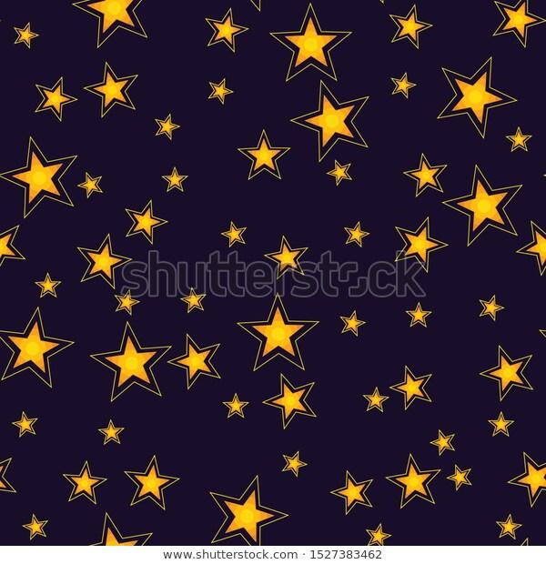 Cute Shining Stars Seamless Pattern Stock Images Seamless Patterns Shining Star Pattern