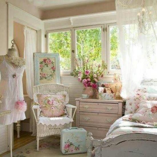 Country French Pink Ornate Standing Mirr - myshabbychicdecor