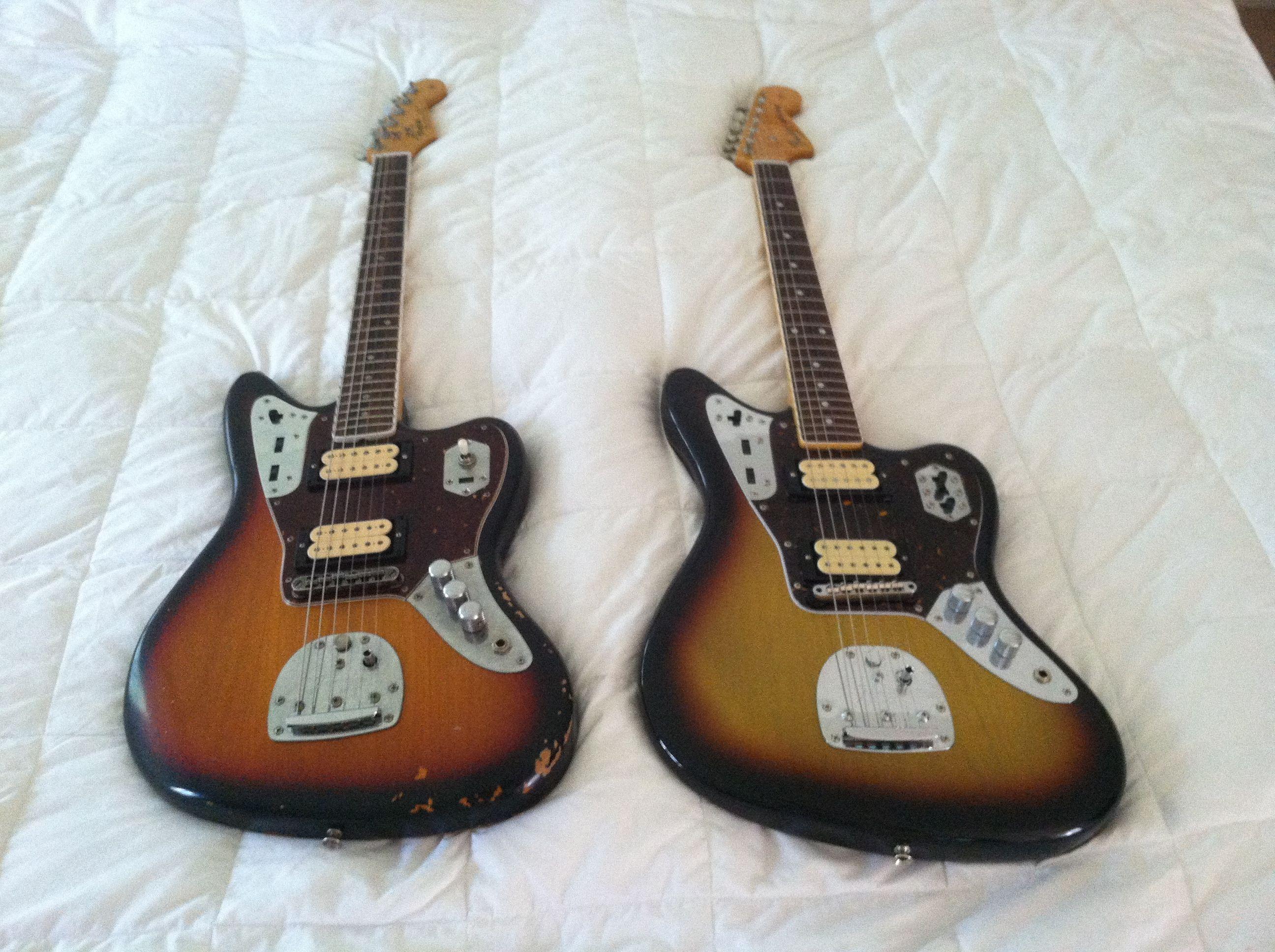 Mexico Vs Japan On The Signature Kurt Cobain Fender Jaguar Fender Jaguar Fender Mustang Guitar Donald Cobain