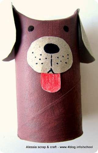 lavoretti, zoo con i tubi di cartone: il cagnolino   giochi di ... - Animali Con Tubi Di Carta Igienica