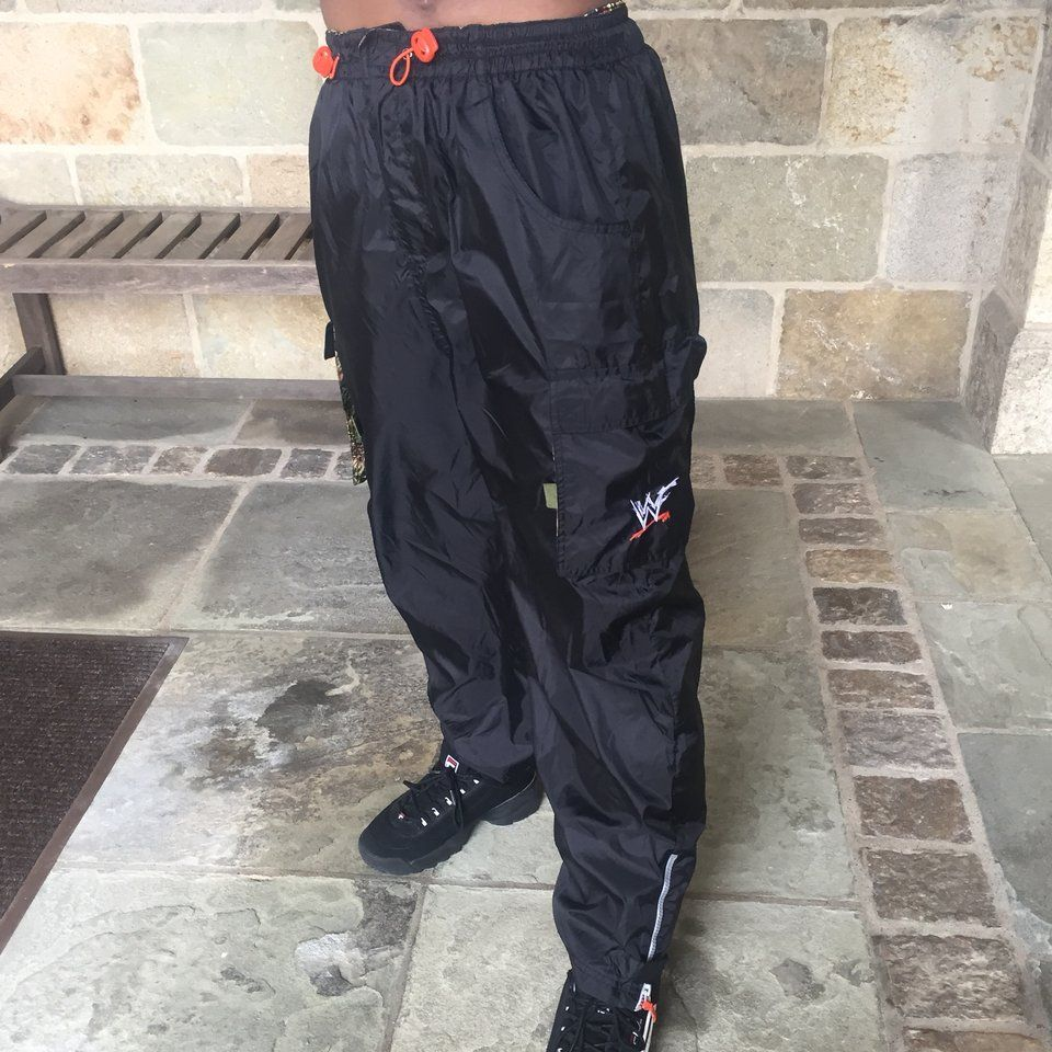 Vintage WWF Windbreaker Cargo pants. Youth size small but a