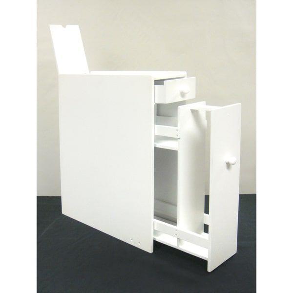 White Wood Bathroom Floor Cabinet | shopping list | Pinterest ...