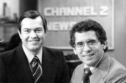 Bill Kurtis and Walter Jacobson , CBS channel 2