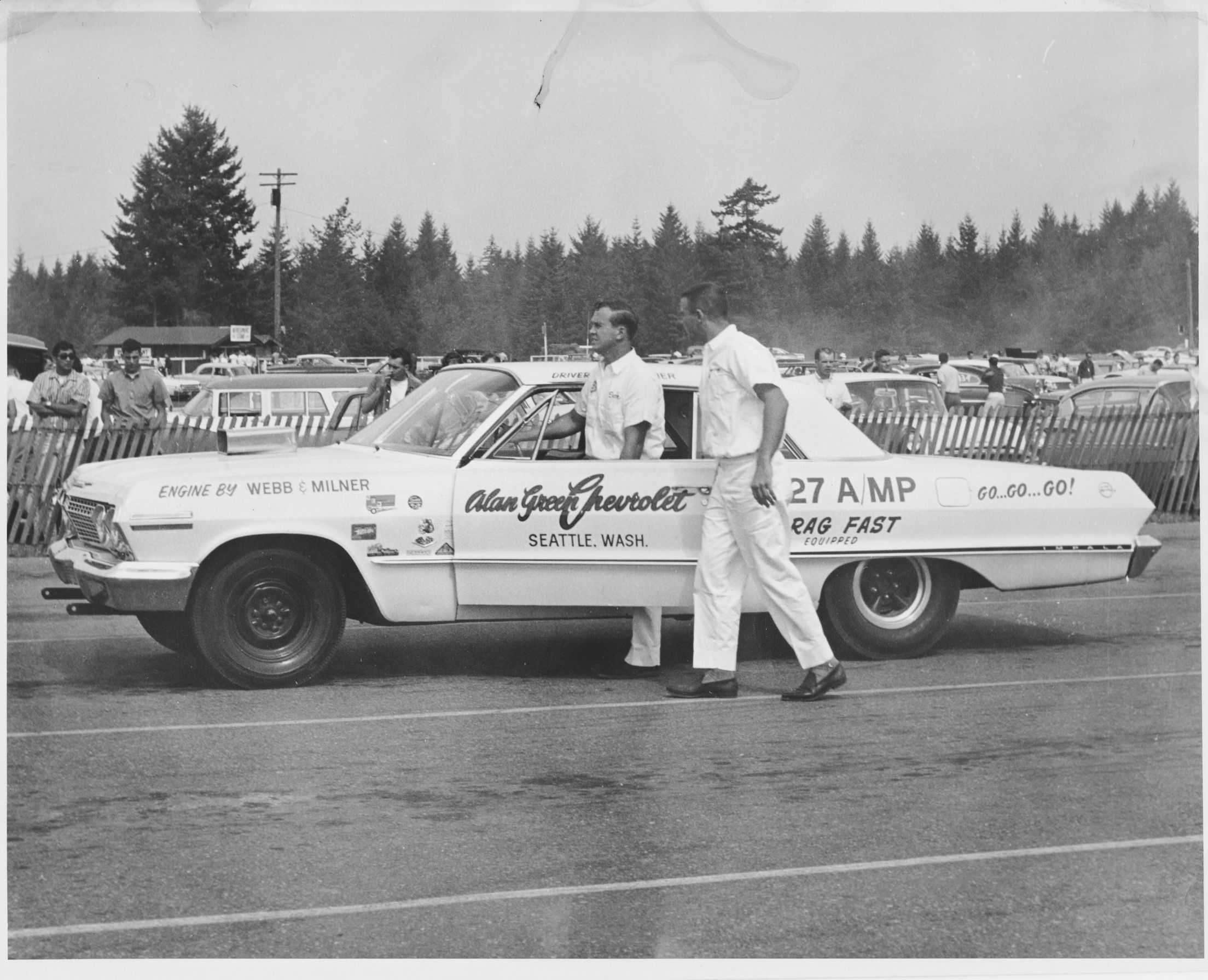 Alan Webb Chevy >> My dad, Larry Webb and Dick Milner with the Alan Green ...