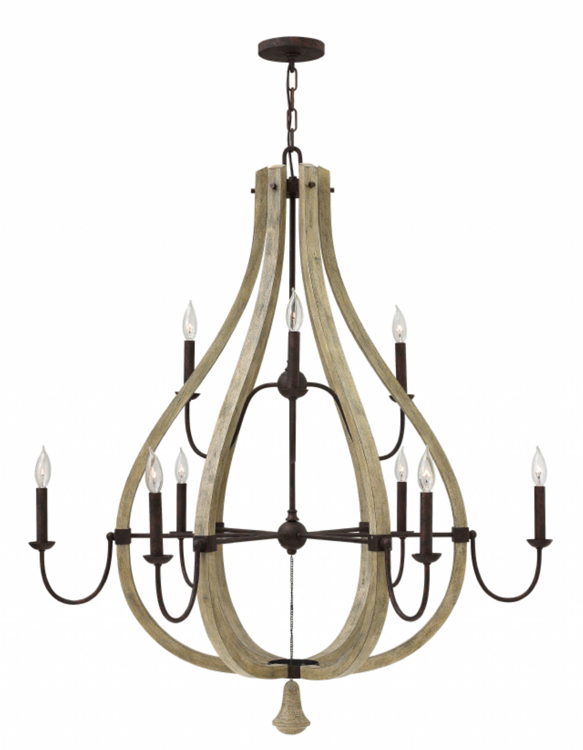 Hinkley Lighting carries many Iron Rust Middlefield Chandeliers
