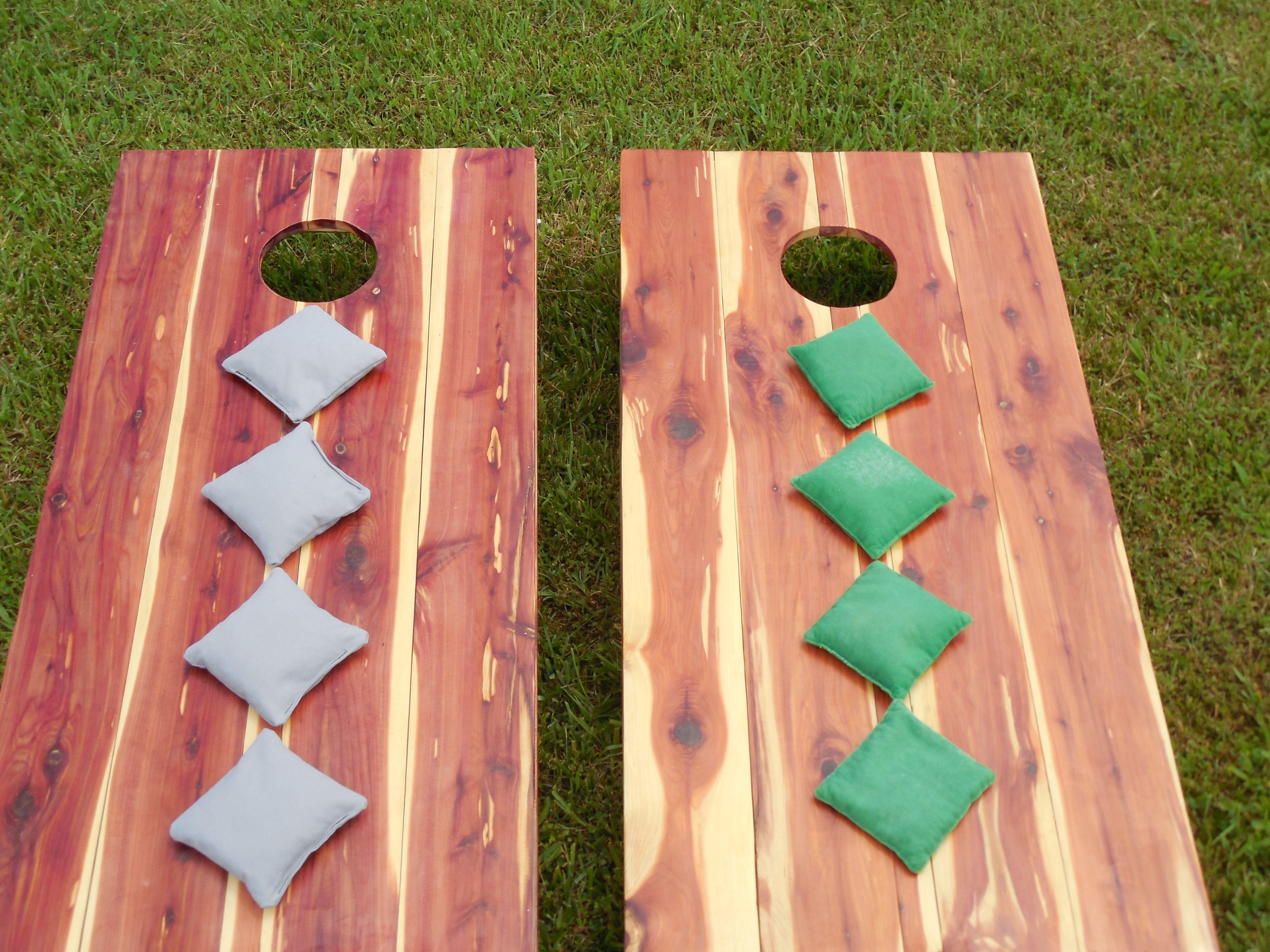 cedar cornhole boards