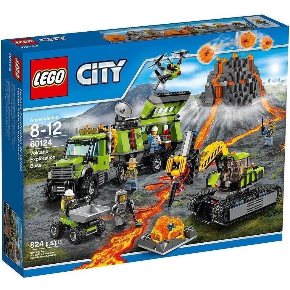 LEGO 60124 City Volcano Exploration Base Lego city toys