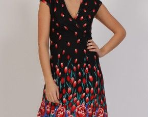 Superstition Falling Tulips Dress