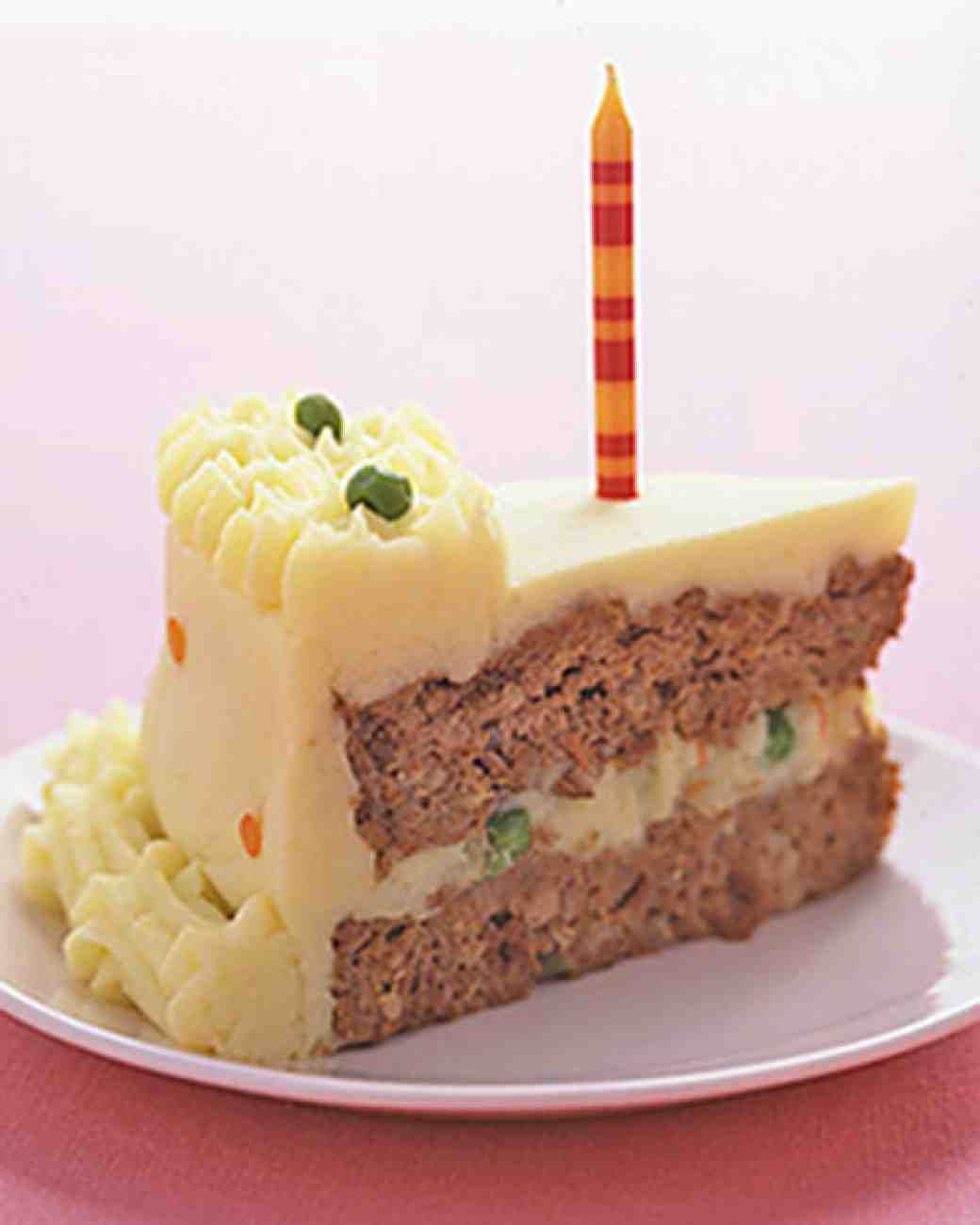 "Birthday Meatloaf ""Cake"" for those who don't like sweets :Ba"