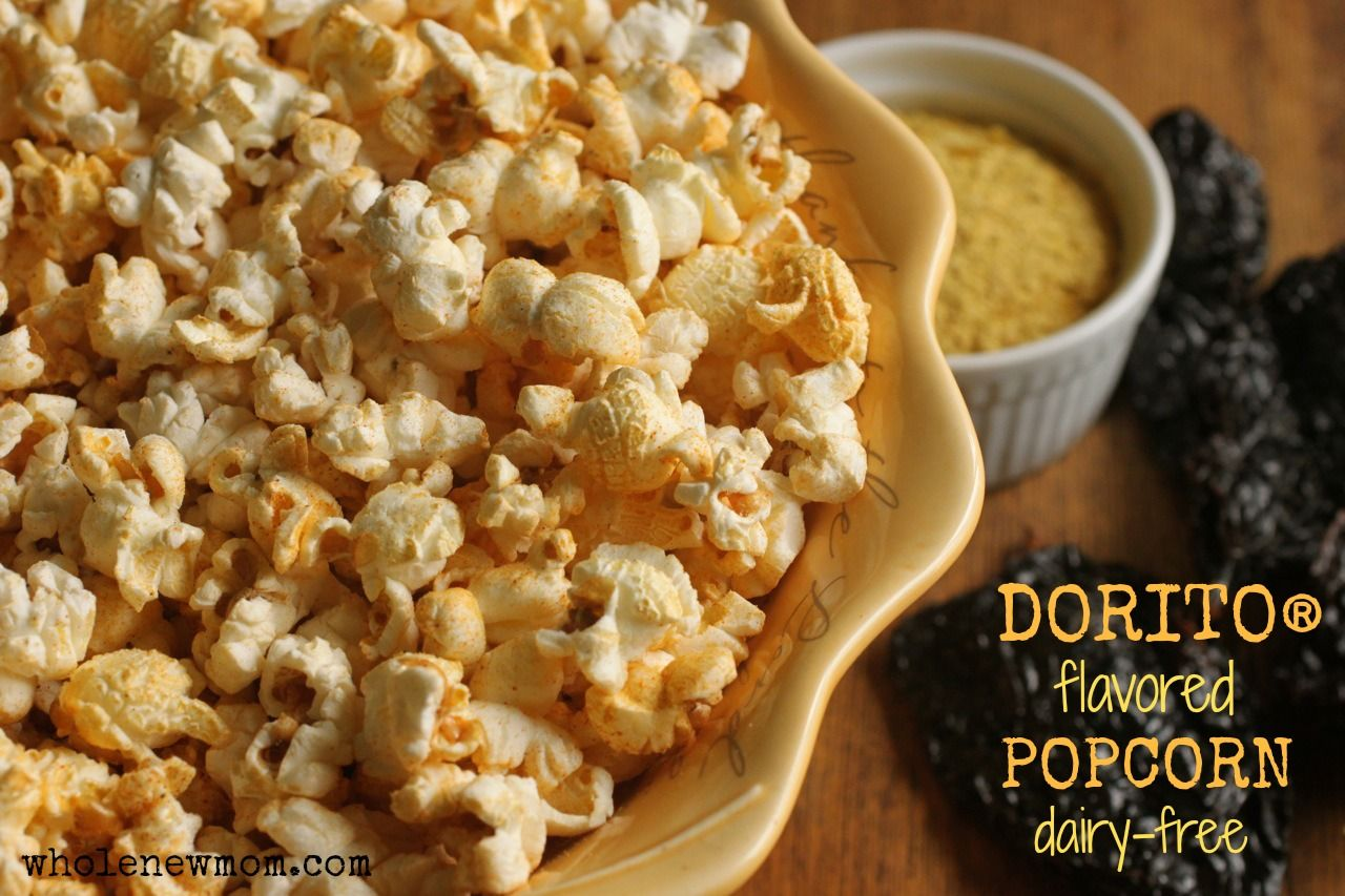 Dorito popcorn dairy free gluten free vegan recipe