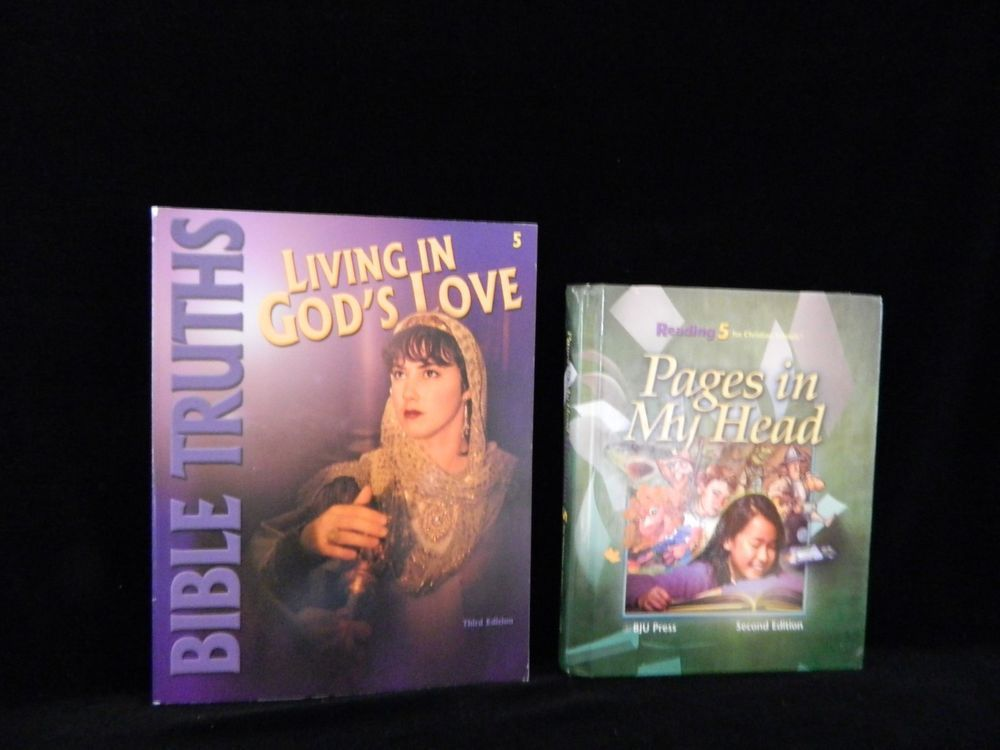 Bob Jones Living in God's Love Bible & Pages in My Head HB Homeschool / School #TextbookBundleKit