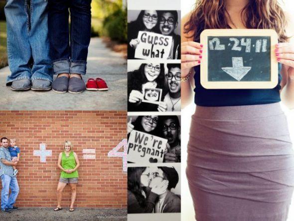 17 Best images about Pregnancy announcement ideas 3 – Photo Baby Announcement Ideas