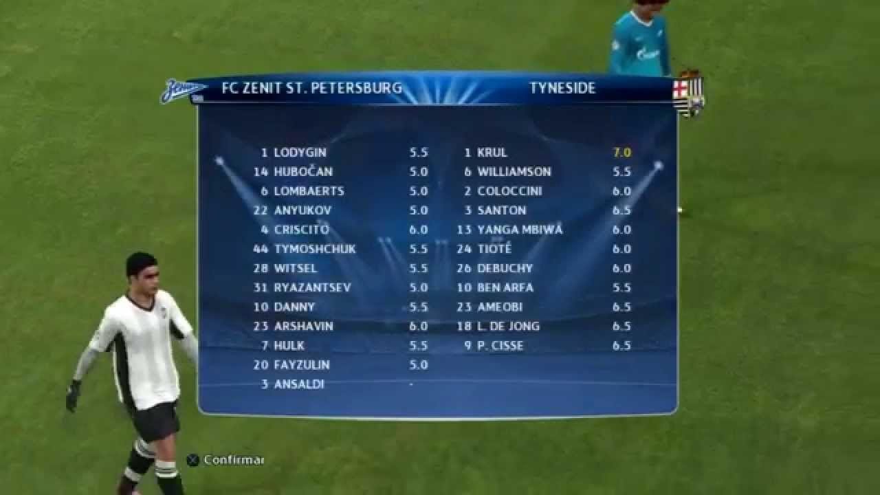 Pes 2014 Champions League J4 - Zenit San Petesburgo vs Newcastle (PS3) - Partido Comentado