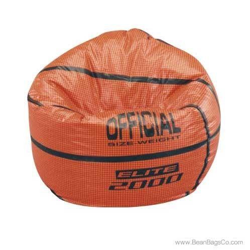 Junior Vinyl Pure Bead Sports Bean Bag Chair Basketball Bean Bag Chair Kids Sports Vinyl Bean Bag Chair