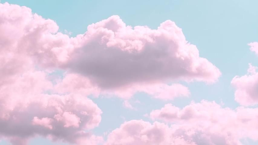 Motions Clouds. Puffy Fluffy Beautiful Stock Footage Video