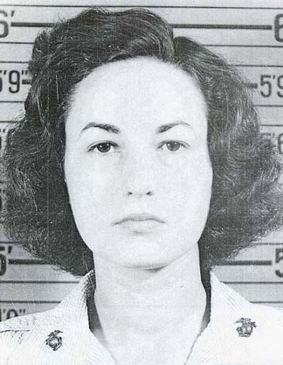 """Bea Arthur (née Bernice Frankel) (1922-2009) SSgt. USMC 1943-45 WW II. Enlisted and assigned as typist at Marine HQ in Wash DC, then air stations in VA and NC. Best remembered for her title role in the TV series """"Maude"""" and as Dorothy in """"Golden Girls""""."""